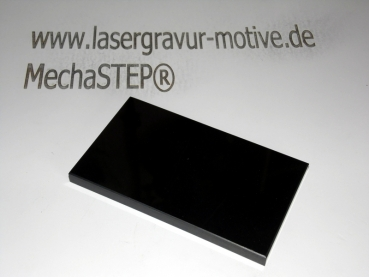 Fotomarmor Quadrat / Tafel 150x150x8 mm absolut Black.